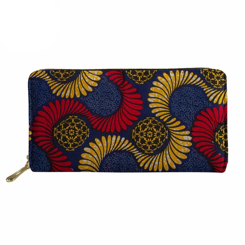 Noisydesigns Women Wallet Men Purse African Coin jane women bag purses canta Rfid PU Lea ...