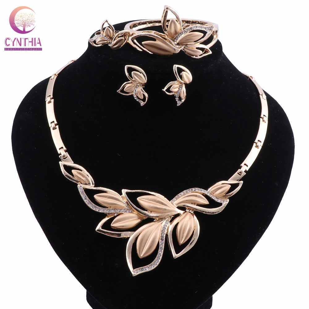 CYNTHIA Jewelry Sets For Women Crystal African Beads Jewelry Set Necklace Earring Luxury Nigeria Wedding Dubai Jewelry Sets