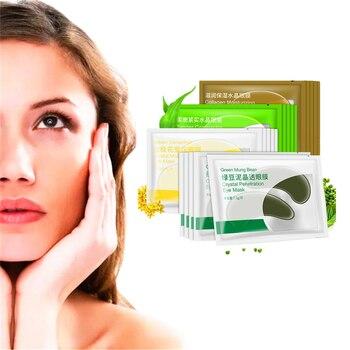 Nature Mung bean Eye Serum Crystal Collagen Eye Mask Dark Circle Anti-Puffiness DISAAR