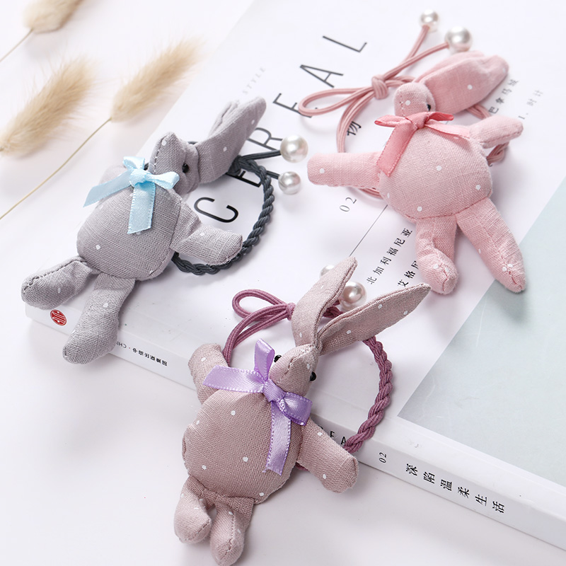 2018 New Fashion Cute Rabbit Girls Rubber Bands Princess Hair Ornament   Headwear   Elastic Hair Bands Headbands Hair Accessories