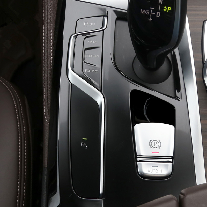 車のスタイリングセンターコンソールギアシフトボタン保護のための BMW 5 シリーズ G30 G38 2018 LHD 修正されたアクセサリー