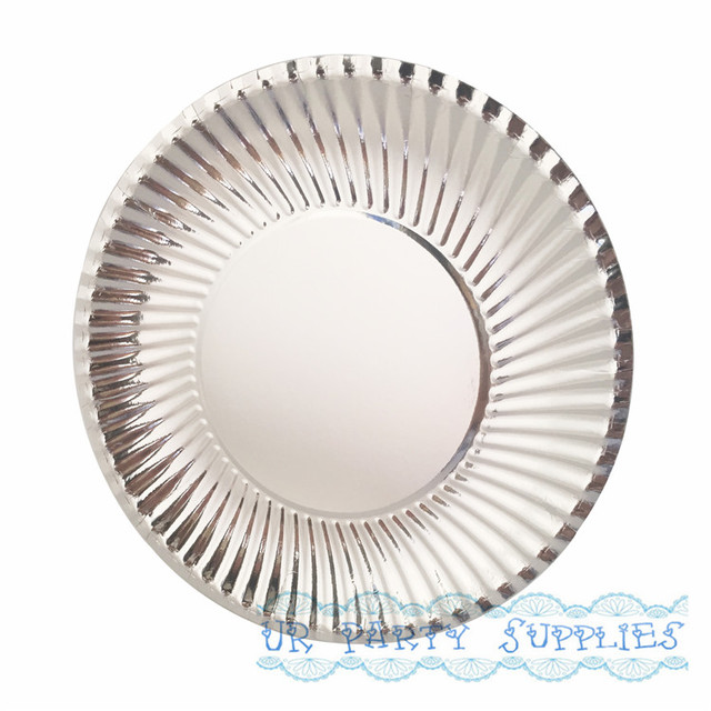 New Arrival 50pcs/pack Silver Foil Paper Plates Disposable Paper Plates Party Tray Valentine Birthday  sc 1 st  AliExpress.com & New Arrival 50pcs/pack Silver Foil Paper Plates Disposable Paper ...