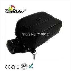 2019 HOT 48 V 10Ah litowo jonowy akumulator dla ebike'a z 2A ładowarka żaba kształt OR02A1 Akcesoria do rowerów elektrycznych Sport i rozrywka -