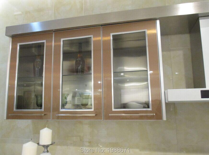 Cocinas con puertas de cristal excellent puerta corredera vidrio mate with cocinas con puertas - Puerta cristal cocina ...