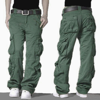 2017 Cargo Pants Mens Army Military Style Tactical Combat Pants High Quality Cotton Trousers Outdoors Casual