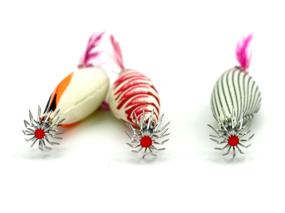 3 ədəd NEW Plastik karides cazibəsi Squid jig balıq ovu - Balıqçılıq - Fotoqrafiya 5