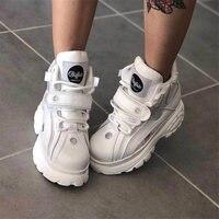 Брендовая Роскошная обувь; дизайнерские белые кроссовки для женщин; Новинка 2019 года; весенние массивные кроссовки из натуральной кожи; повс
