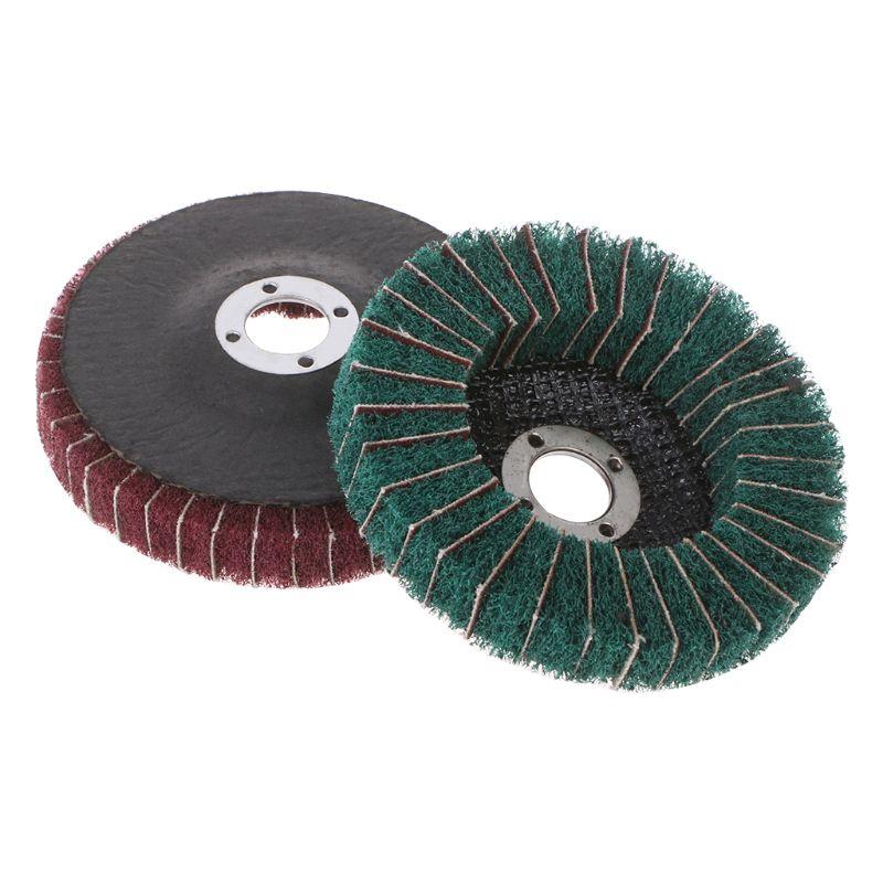 Nylon Fiber Grinding Wheel With Sand Polishing Buffing Disc Pad Abrasive Brush Rotary Tool For Metallurgy Machinery -hol
