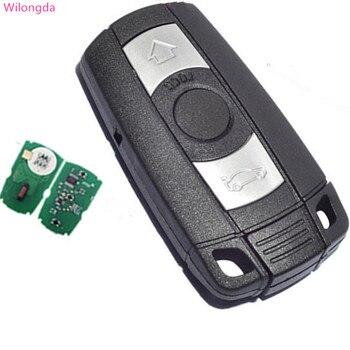 Wilongda Car part Auto key 3 Button remote car key 434mhz 868mhz 315MHz pcf7945 chip car accessories for bmw e60 cas3 key