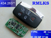 RMLKS High quality 4+1 Button Remote Key For Land Rover For Range Rover Sport Remote Smart Key Fob 315MHz 433MHz ID46 Chip