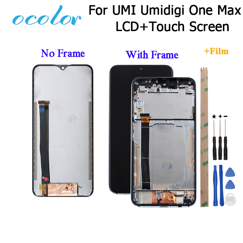 ocolor For UMI Umidigi One Max LCD Display and Touch Screen Frame Film Assembly Replacement Tools