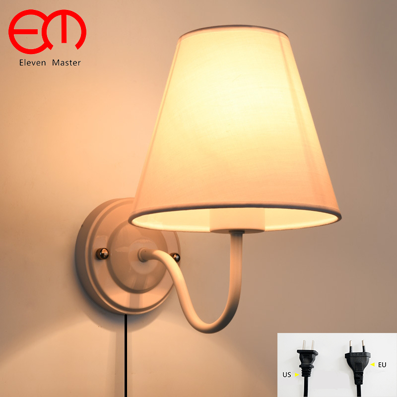 NEW Wall Lamp with plug Led Wall Sconce Brief Design Led Bed Lamps Indoor Stair Lighting Led Bedside Lamp Wall Lamp ZBD0097 kcd1 on off 4pin boat car rocker switch 6a 10a 250v 125v ac red yellow green blue button best price