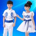 Children's chorus suit boy and girl students  porcelain performing suit children dance the children's costume Set suits