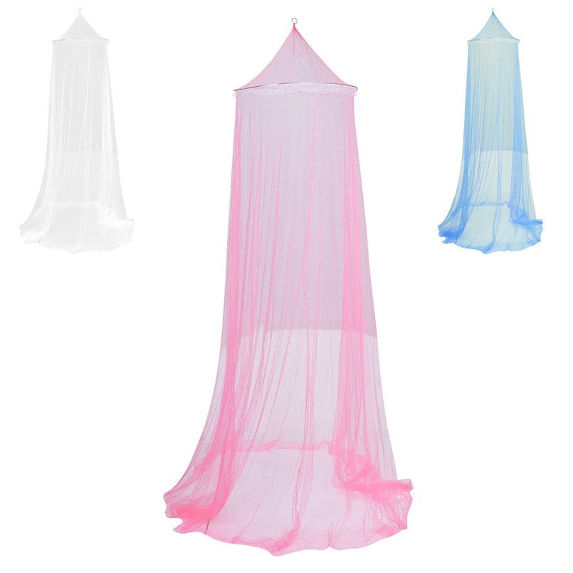Round Lace Insect Mosquito Net Elegant Hung Dome Mosquito Net Canopy Bed Curtains Mosquito Net Bed Moustiquaire Klamboe 40MY21