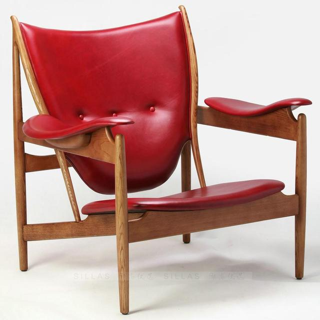 Northern Europe And Denmark Chiefs Chair Designer Furniture Wood Armchair  Italian Leather Club Chairs Cafe