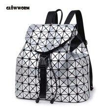 Frauen Rucksack Feminine Geometrische Plaid Pailletten Weibliche Rucksäcke Für Mädchen Im Teenageralter Bagpack Kordelzug CX464