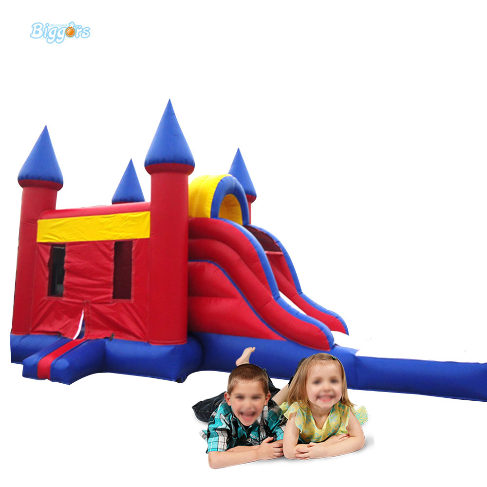 Most Funny Inflatable Jumping Castles Bouncer with Water Pool for Kids 2017 summer funny games 5m long inflatable slides for children in pool cheap inflatable water slides for sale