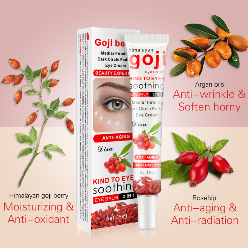 Goji Eye Cream Multi Effect Repair Moisturizing Eye Care Cream 35G Anti-Puffiness Dark Circle Anti-Aging Eye Skin Care Cream
