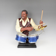 Crafts Arts Home decoration Black bands, crafts, furnishings, musicians, sculptures, musical instruments, drums, bars, model roo