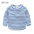 2017 Casual Outerwear Pullover Long Sleeve Striped T-shirt Kids Clothes, Casual O-neck Skin T-shirt Boys Clothes Spring Autumn