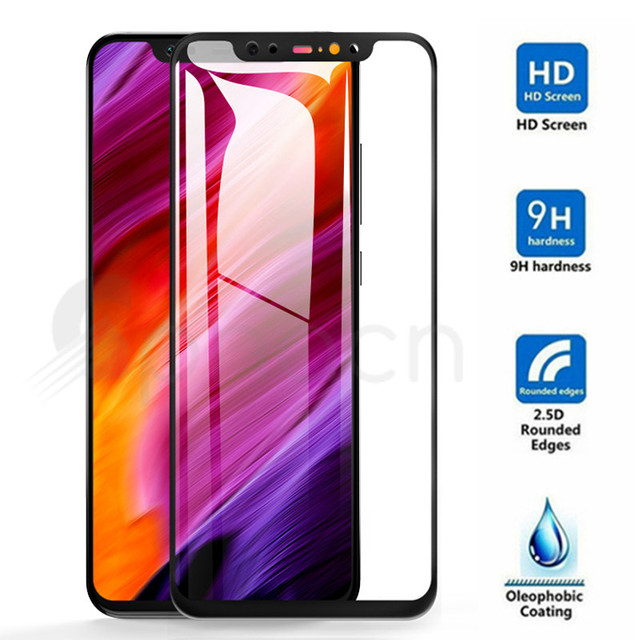 3D Full Cover Protective Glass For Xiaomi Mi 8 9 SE A1 A2 Lite Pocophone F1 Max 3 2 Note 3 Tempered Screen Protector Glass Film Phone Screen Protectors