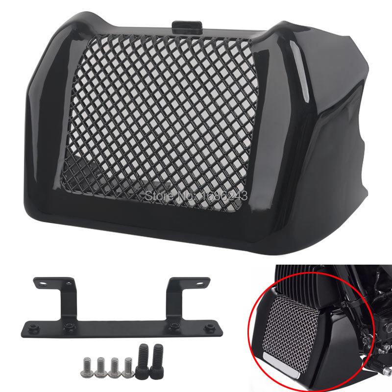Glossy Black ABS Precision Oil Cooler Cover ABS Plastic Fit For Harley Touring FLHR FLHRX FLHX FLRT FLHXS FLHTCU Special 17 up-in Covers & Ornamental Mouldings from Automobiles & Motorcycles    1
