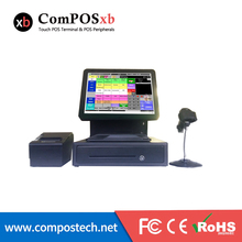 Pure Touch Screen Black 15inch Pos For Restaurant with Printer Barcode Scanner Cash Drawer