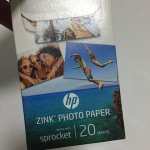 Image 4 - 2 קופסות (40 דפים) אברה מקורי תמונה נייר צילום מדפסת zink תמונה נייר קלטת להדביק דבק עבור hp ZINK תמונה נייר