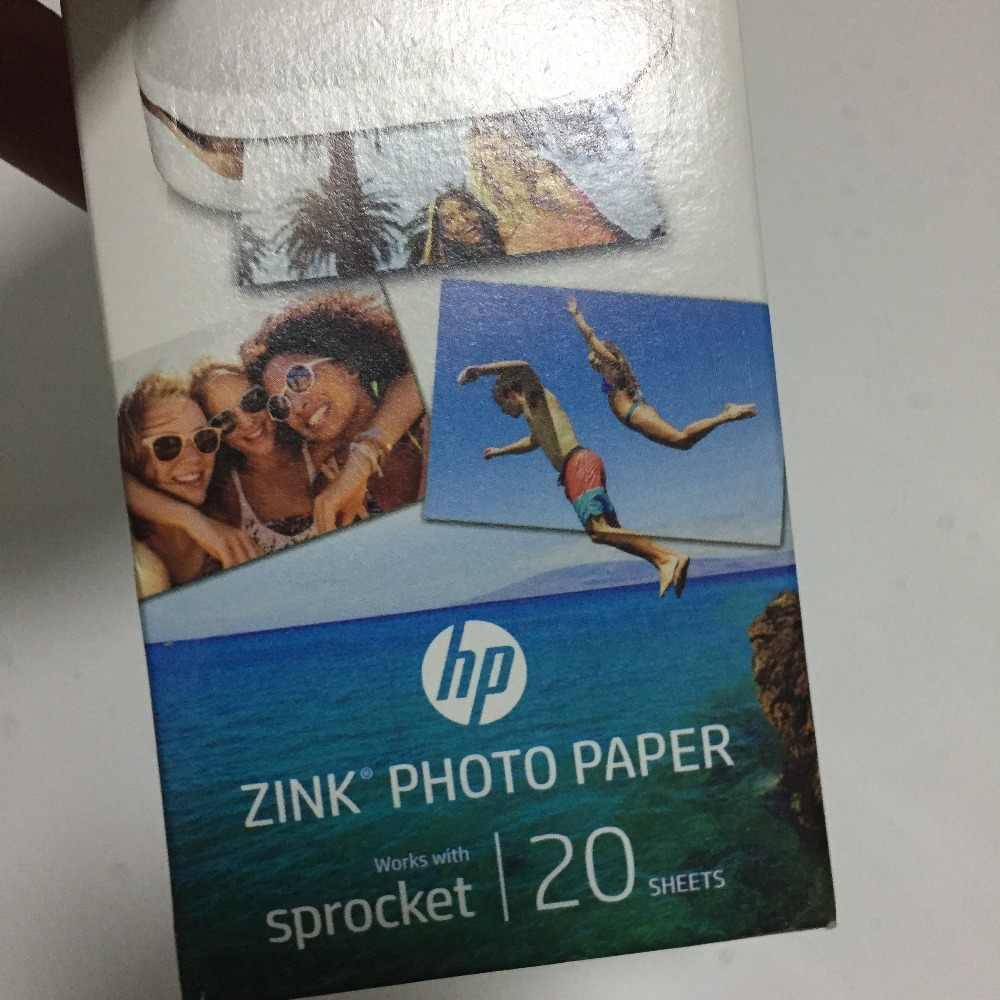 2 Kotak (40 Halaman) pinion Asli Foto Kertas Foto Printer ZINK Photo Pita Kertas Pasta Perekat untuk HP Zink Kertas Foto