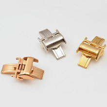 Watch accessories stainless steel double button watch buckle 12 14 16 18mm
