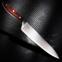 8 inch Professional Damascus Chef Knife by Kamosoto with High Carbon Stainless Steel, Ergonomic Handle and Wave Blade Pattern