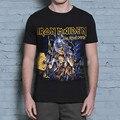 2016 Nueva Moda 3d Impreso Iron Maiden Camiseta de Algodón Pesado Cráneo de Metal Hombre de Las Camisetas de Hip Hop de la Aptitud Camisetas Tee Shirt Homme