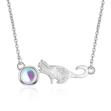 TJP Latest Female Crystal Animal Pendants Necklace For Women Jewelry Top Quality 925 Sterling Silver Choker Necklace Girl Lady цена
