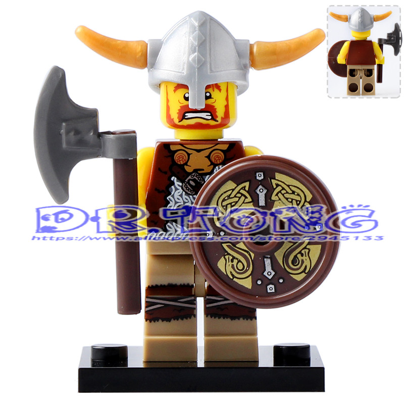 DR.TONG 20pcs/lot XH623 Viking Warrior Medieval Egyptian Super Heroes Star Wars Building Blocks Bricks DIY Toys Child Gift X0161 xh 648 super hero building blocks