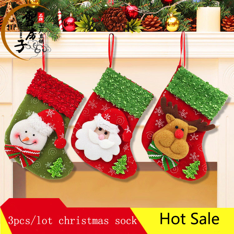 12pcslot 12 patterns christmas decoration for home new year 2016 new luxury christmas boot - Wholesale Christmas Decorations