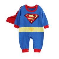 Cartoon Cotton Kids Boys Clothes Jumpsuit Batman Baby Boy Rompers Superman Baby Gilr Romper Baby Costume