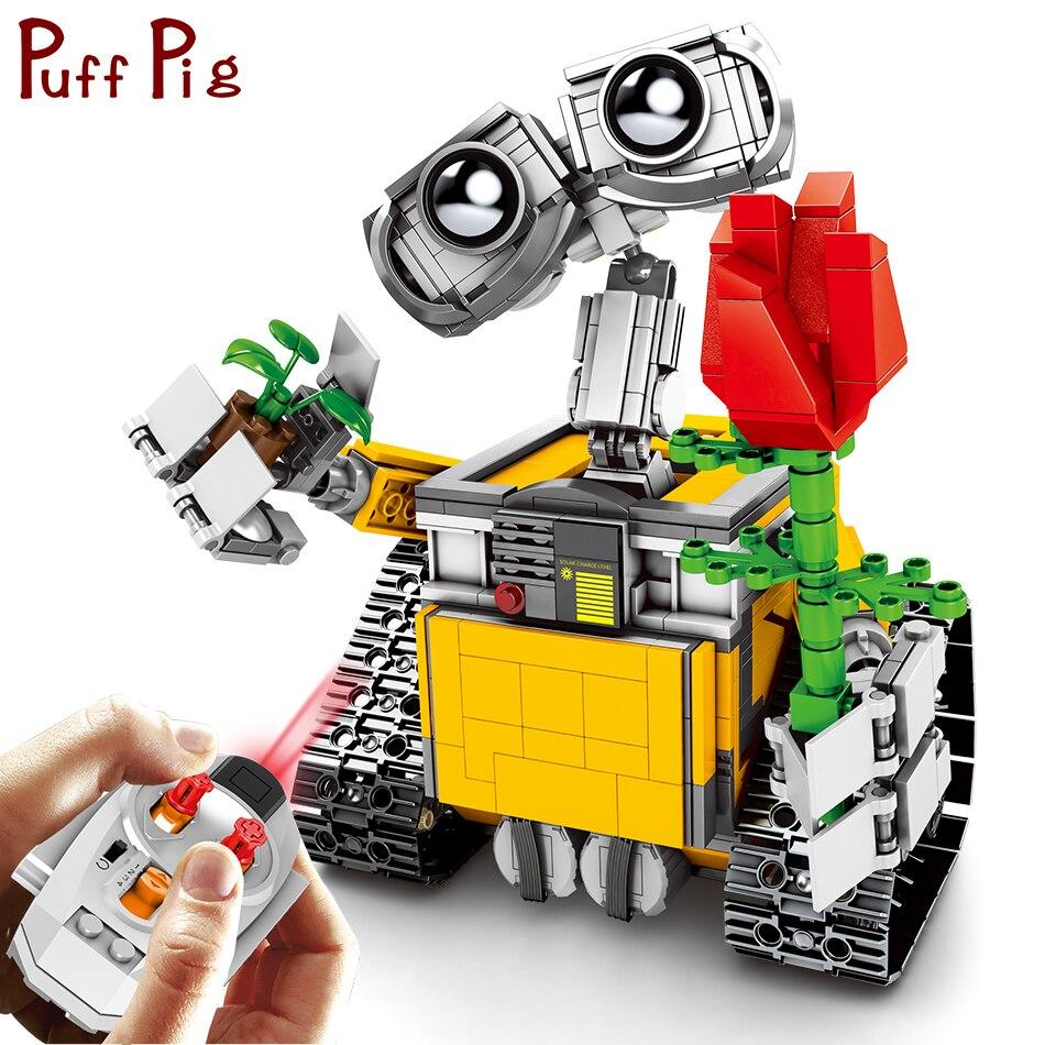 853 pièces RC MUR E Robot Figurines Éducatifs Jouets Télécommandés Pour Enfants Juguetes legorreta Technique Blocs De Construction