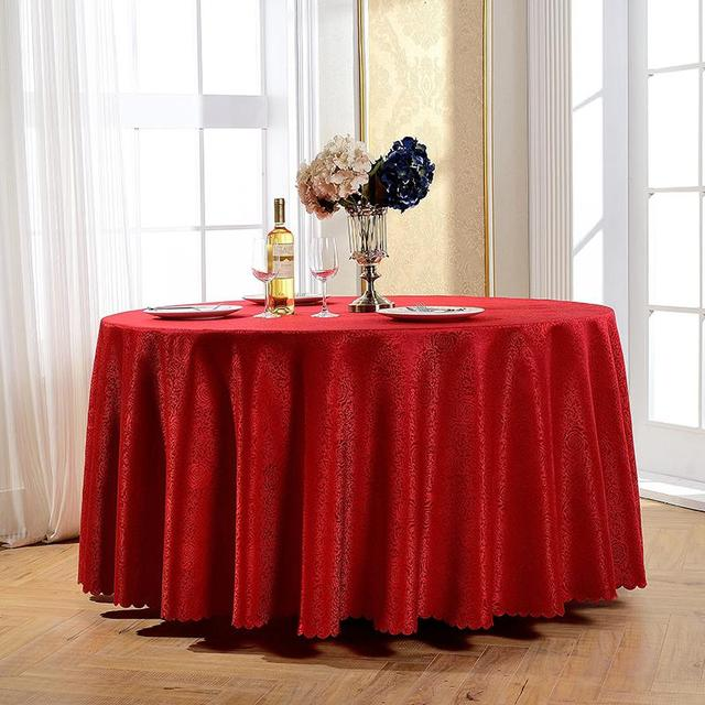 Lovely TOP Embroidery Rectangular And Round Table Cloth Machine Washable Tablecloth  Christmas Banquet Party Decoration