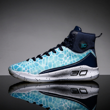 Youth Men New Trend Basketball Shoes Boy Breathable Non-slip Cushioning Sneakers Outdoor Training Ball  Hot sale