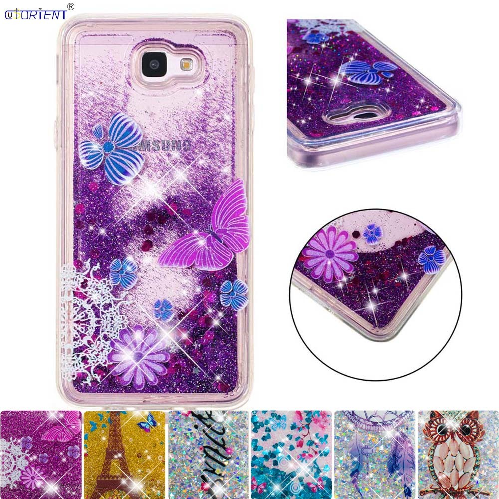 Glitter Case For Samsung Galaxy J5 Prime Bumper Cover Sm-g570f/ds Sm-g570f Cute Bling Dynamic Liquid Quicksand Fitted Back Cases The Latest Fashion Cellphones & Telecommunications