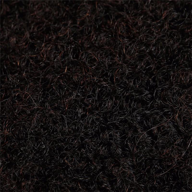 Sleek 3pcslot Tight Afro Kinky Bulk Hair 100% Human Hair For Dreadlocks, Indian Hair Kinky Twist hair in Bulk Natural Color  (6)