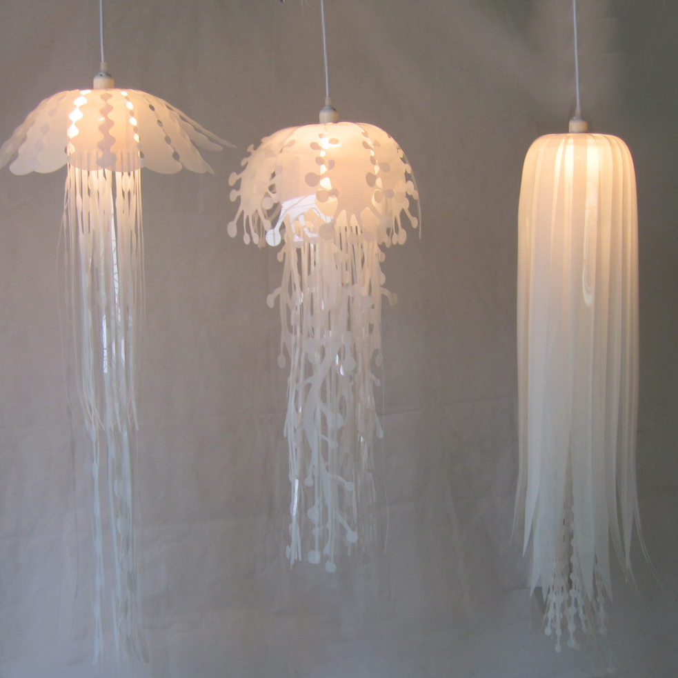 Modern pvc Jellyfish Pendant Light for living room Restaurant bedroom bar hanging lighting|pendant lights|hanging lights|light for living room - title=
