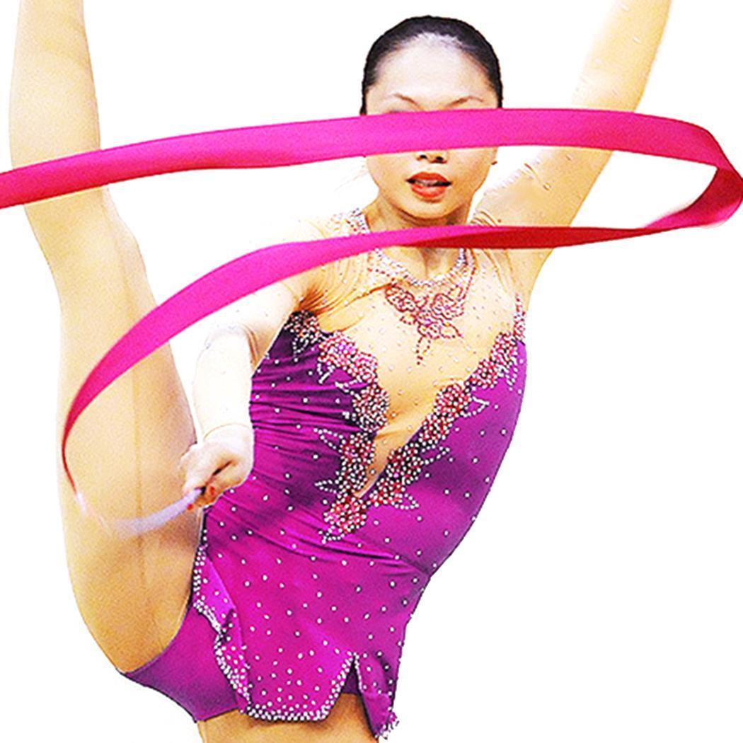 b7b3fbdd3 6 M Coloridas Fitas de Ginástica Ballet Dança Rítmica Fita Art Ginástica  Streamer Rodopio Rod Vara Para Treinamento de Ginástica Profissional