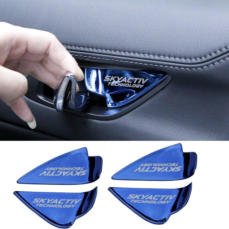 Image 2 - Car Interior Door Handle Bowl Trim Cover Sticker For Mazda 2 3 6 Demio CX3 CX 5 CX5 CX 5 CX7 CX9 MX5 Axela ATENZA 2017 2018 2019-in Interior Mouldings from Automobiles & Motorcycles