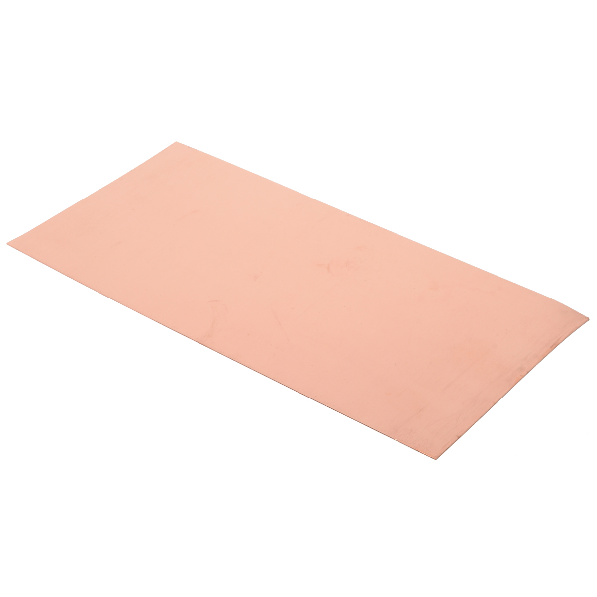 1pc 99.9% Pure Copper Cu Metal Sheet Plate 100*200*0.5MM Thin Foil Panel For Industry Supply
