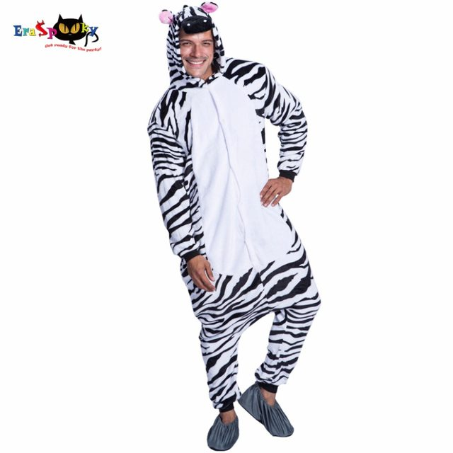 Eraspooky Zebra Cosplay Animal Costume Christmas Costume For Men Halloween Costume Winter Male Sleepwear Loose Anime Costume  sc 1 st  Aliexpress & Online Shop Eraspooky Zebra Cosplay Animal Costume Christmas Costume ...