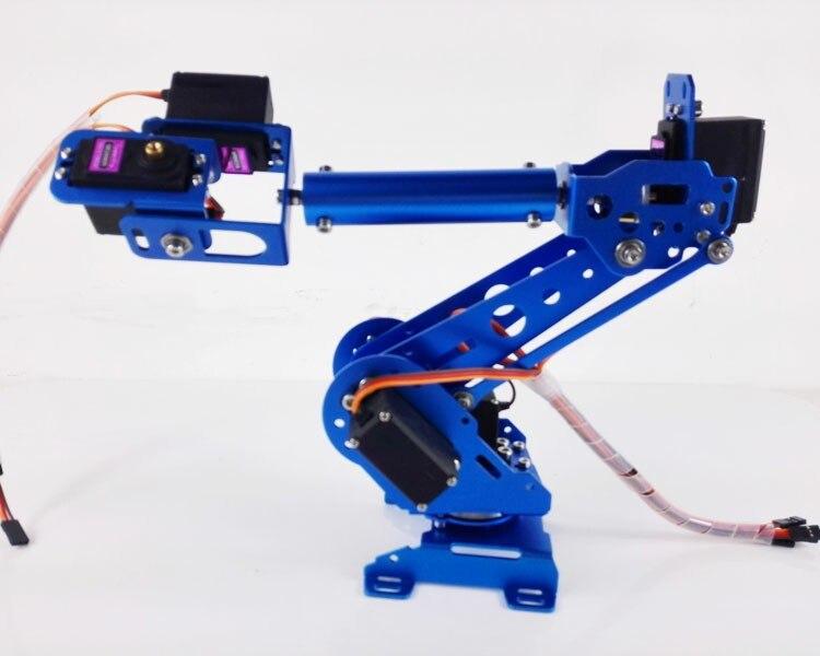 2018 new 6 Axis Robot Arm Mechanical Robot Arm ABB Industrial Robot Arm Free Manipulator w/ MG996R Servos