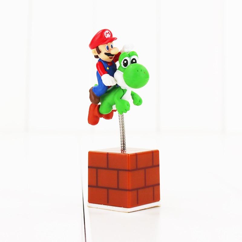 ᗔ3 unids/lote figura Super Mario Bros Mario Luigi Toad Mushroom ...