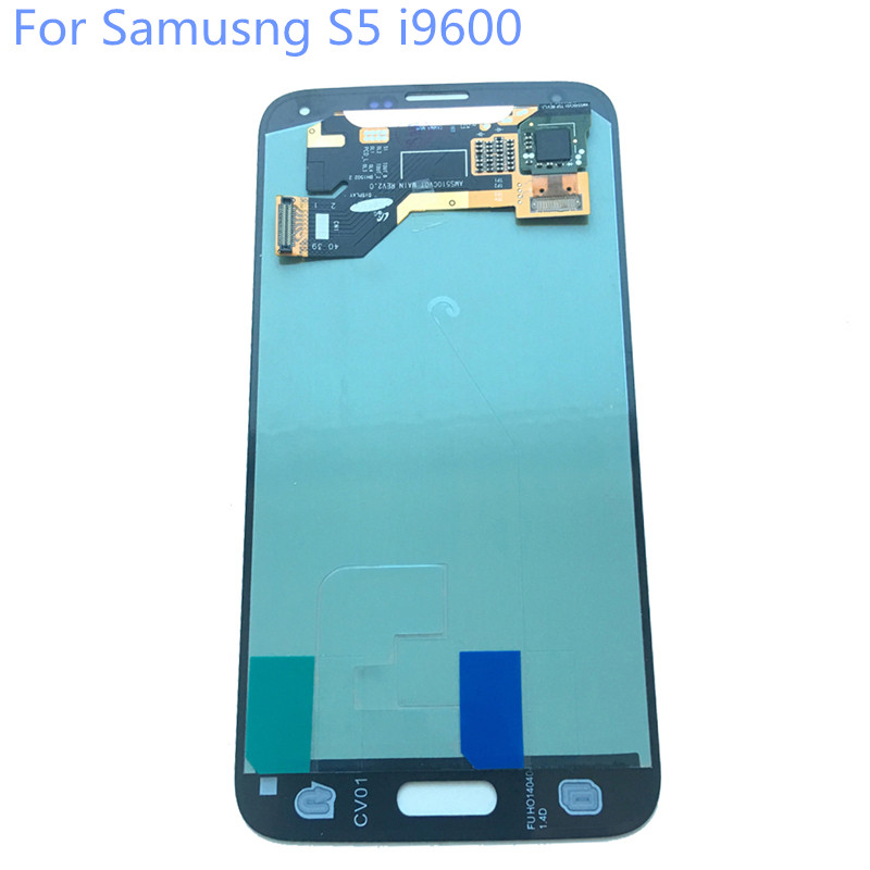 New Super AMOLED LCD S5 i9600 G900F Display 100% Tested Working Touch Screen Assembly For Samsung Galaxy s5 Black White lcd