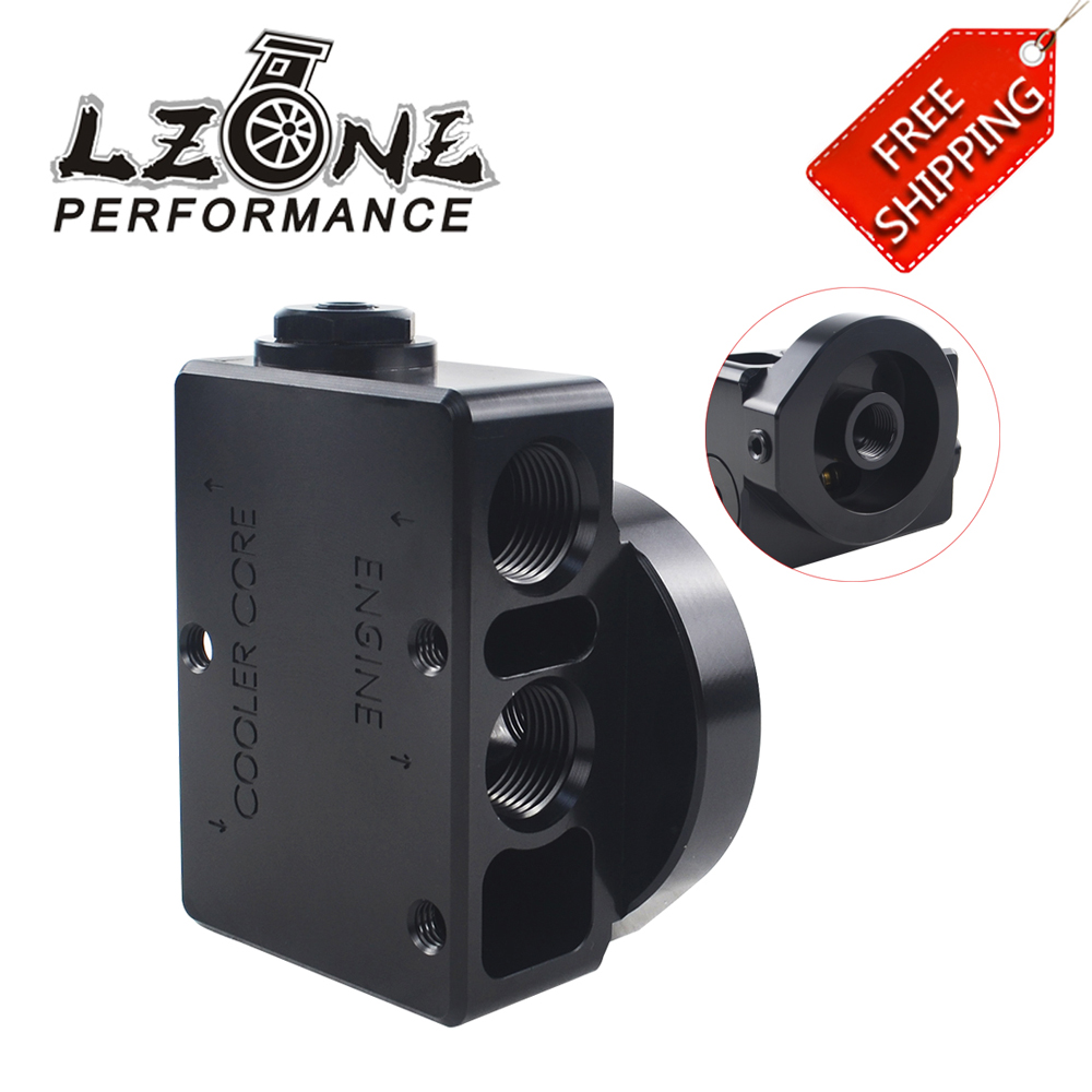 LZONE - FREE SHIP Oil Filter Sandwich Adaptor For High quality Oil filter remote block with thermostat 1xAN8 4xAN10 ORB FEMALE wlring oil filter sandwich adaptor for high quality oil filter remote block with thermostat 1xan8 4xan10 orb female wlr6744